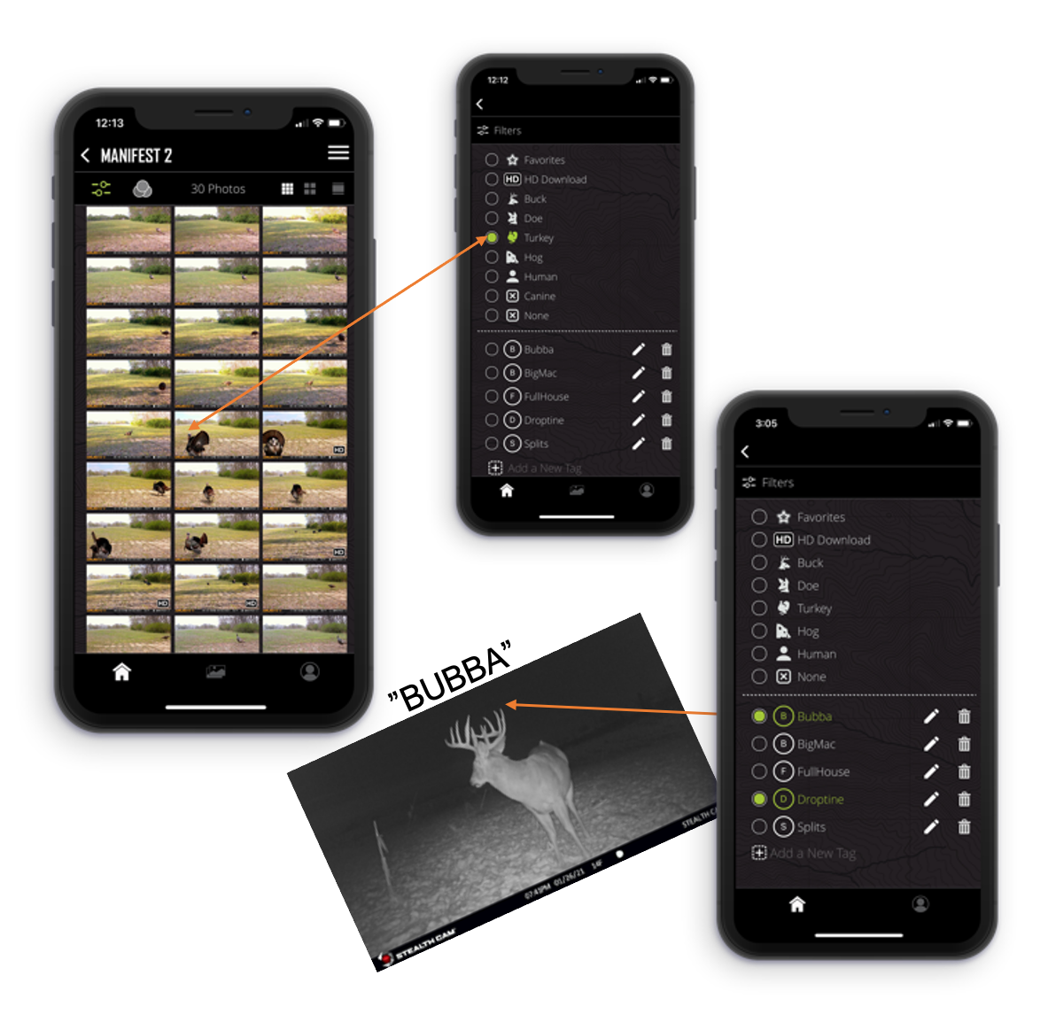 Tagging options in the Command Pro App